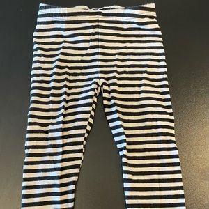 Black and white striped 2T leggings.